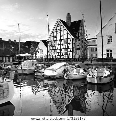 Christianshavn in Copenhagen - Denmark  - stock photo