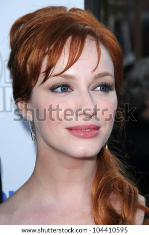 Christina Hendricks  at the Los Angeles Premiere of '500 days of Summer'. Egyptian Theatre, Hollywood, CA. 06-24-09