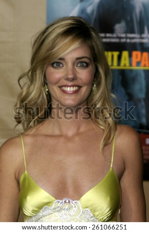 """Christina Moore at the Los Angeles premiere of """"Without A Paddle"""" held at the Paramount Studios in Los Angeles, California United States on August 16, 2004. - stock photo"""