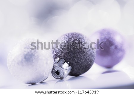 Christmas abstract background, blue tinted - stock photo