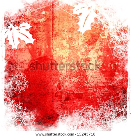 Christmas abstract Background frame - stock photo