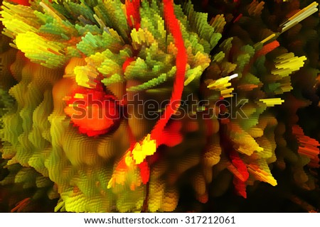 Christmas abstract background in computer game                    - stock photo