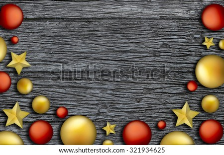 Christmas Accessory with brick wall illustration
