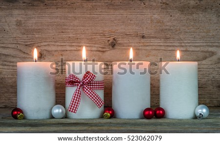 Candle stock photos royalty free images vectors for Advent candle decoration