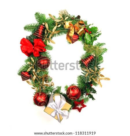 Christmas Alphabet Letter - stock photo