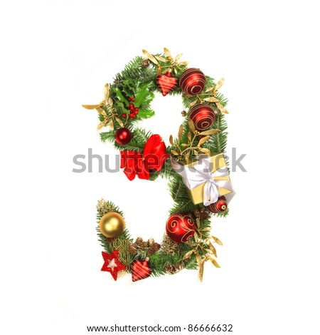 Stock images royalty free images vectors shutterstock for Alphabet christmas wreath