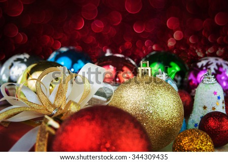 Christmas and happy new year decoration abstract background - stock photo