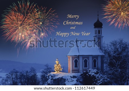 Christmas and new year - stock photo