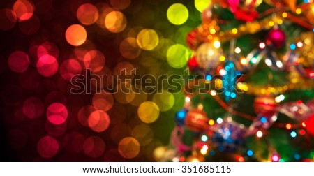 christmas and new year background - stock photo