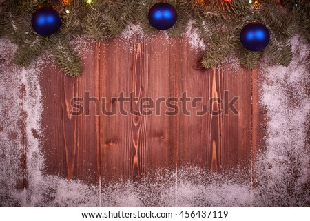 Christmas and New Year background. - stock photo