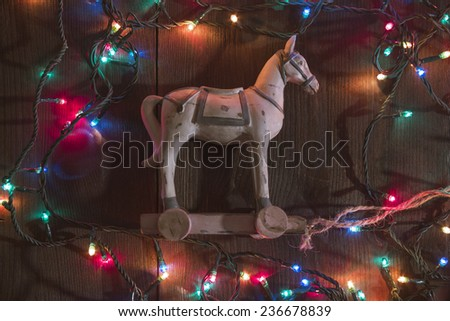 christmas and new year concept, selective focus  - stock photo