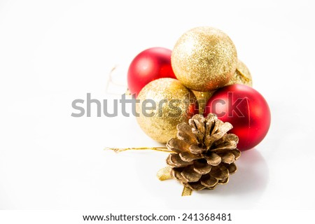 Christmas and new year decorations in festive holiday concept.
