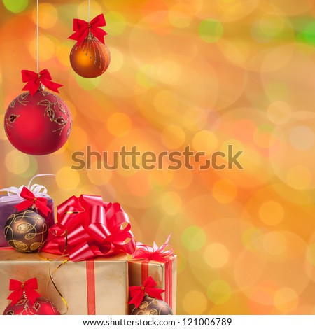 Christmas and New Year festive bokeh background, place for holiday text