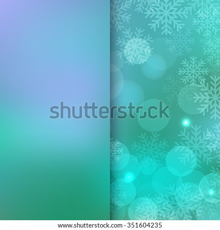 Christmas and New Year holidays blue Background bokeh effect with defocused lights and snowflake - stock photo