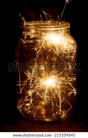 Christmas and new year party sparkler - stock photo