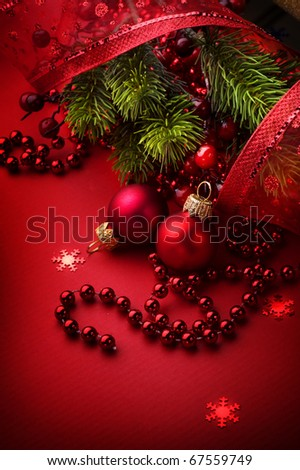 Christmas and New Year's Greeting Card design - stock photo