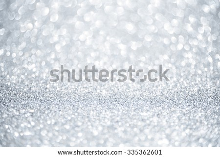 Christmas and New Year silver and white sparkle glitter background - stock photo