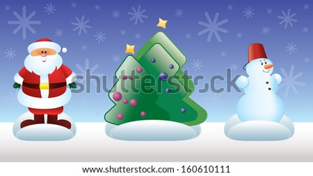 Christmas and New Year toys - stock photo