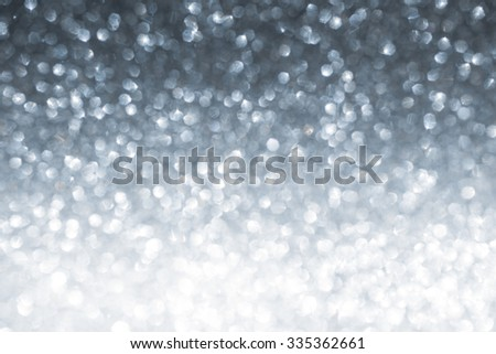 Christmas and New Year winter abstract silver sparkle glitter background  - stock photo