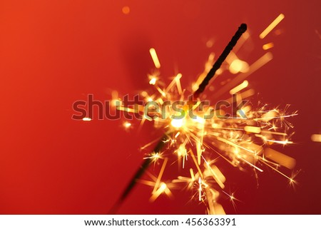 Christmas and newyear party sparkle - stock photo