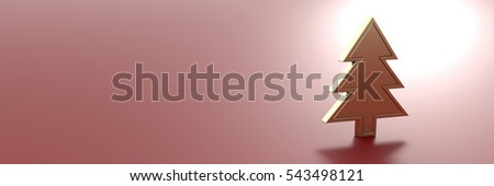 Christmas and winter theme, original 3d rendering. Horizontal size with copy space.