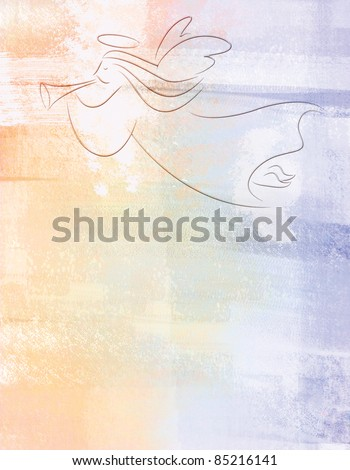 Christmas Angel Illustration Background - stock photo
