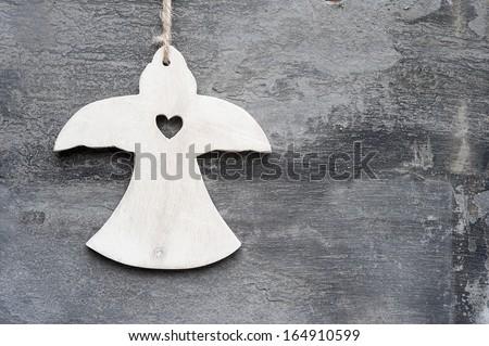 Christmas angel ornament  - stock photo