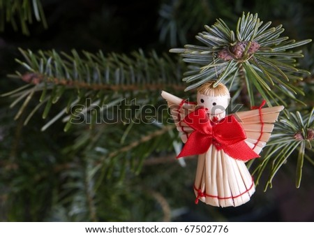 Christmas Angel with candles  and needle
