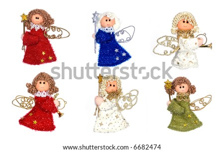 Christmas angels - stock photo