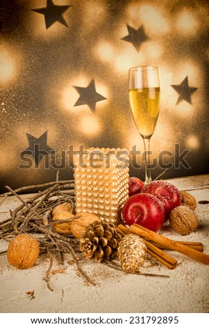 Christmas arrangement , a holiday still life