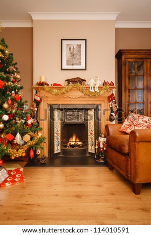 Christmas at home - stock photo