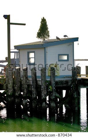 Christmas at the Fishing Shack - stock photo
