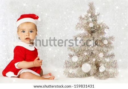 Christmas baby - stock photo