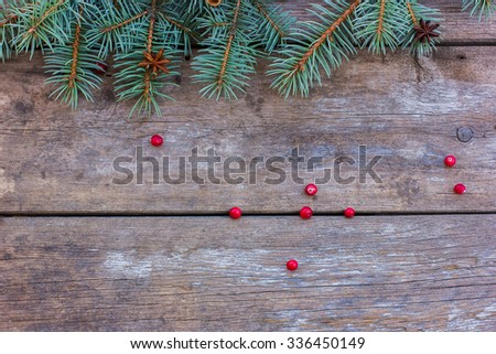 Christmas background. brown wooden background, it is a Christmas decoration. Christmas concept
