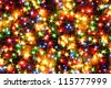 christmas background from the color xmas lights as nice texture - stock photo