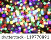 christmas background from the xmas lights (play with the light) - stock photo