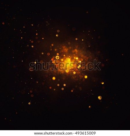 Christmas Background. golden Holiday abstract defocused Background With glowing Stars. Blurred Bokeh. Blurred background