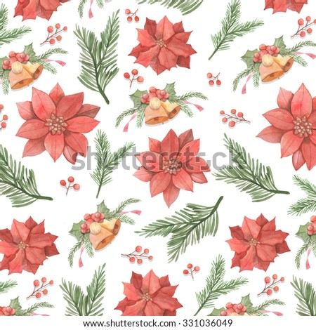 Christmas background, great choice for wrapping paper pattern - stock photo