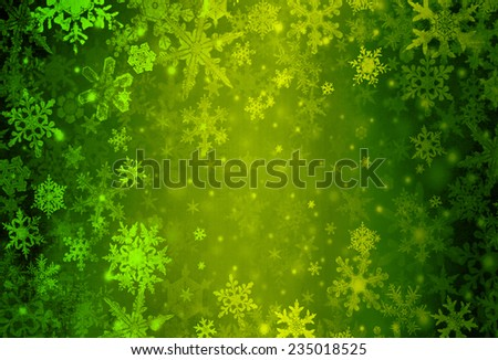 Christmas background green - stock photo
