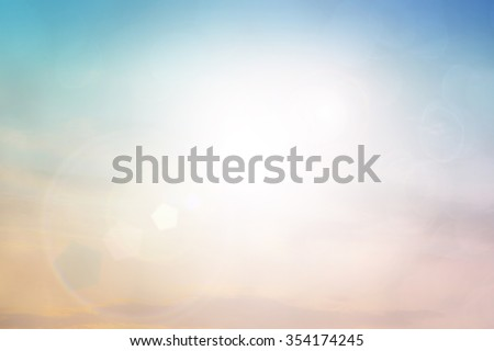 Christmas background.Green Energy.warm sky sunny color green light patterns  plain abstract flare  evening clouds blur - stock photo