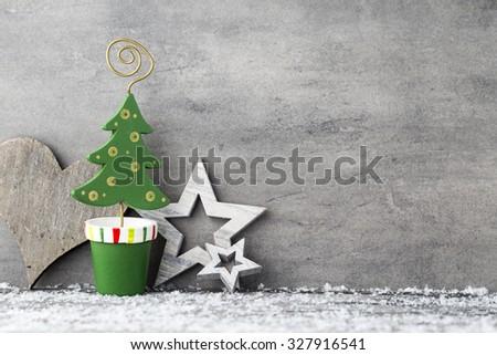 Christmas background, greeting card. Decoration. - stock photo