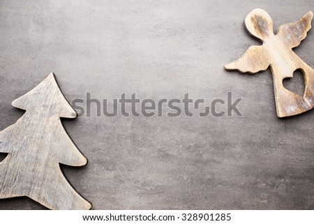 Christmas background, greeting card. Decoration. - stock photo