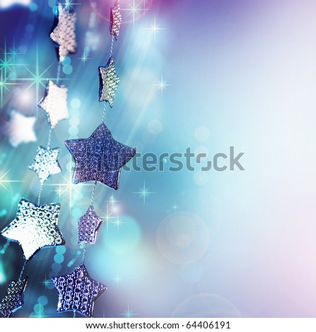 Christmas background.Holiday abstract background - stock photo
