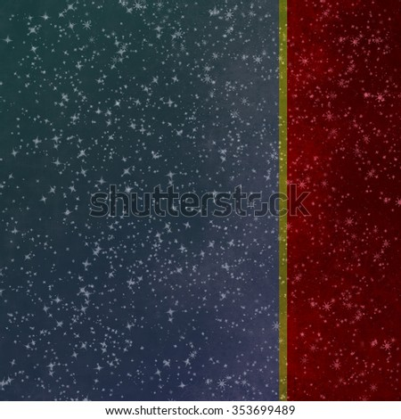 Christmas Background. Holiday Abstract Defocused Background With Snowflakes and Stars. - stock photo