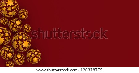 christmas background image with copy space - stock photo