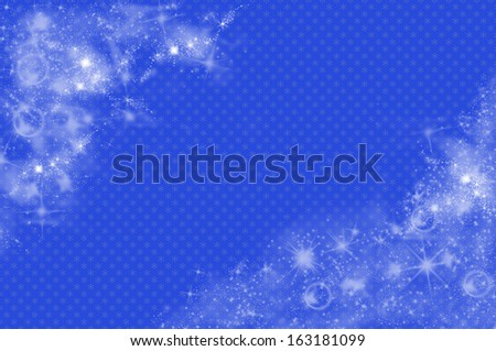 Christmas background in blue - stock photo