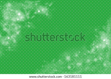 Christmas background in green - stock photo
