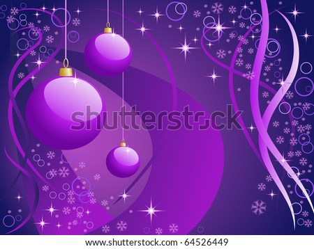 Christmas background in purple shades - stock photo
