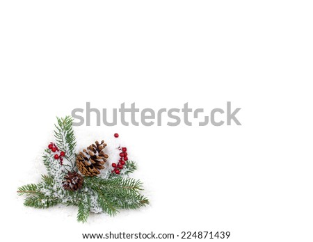Christmas background Isolated on White Background - stock photo