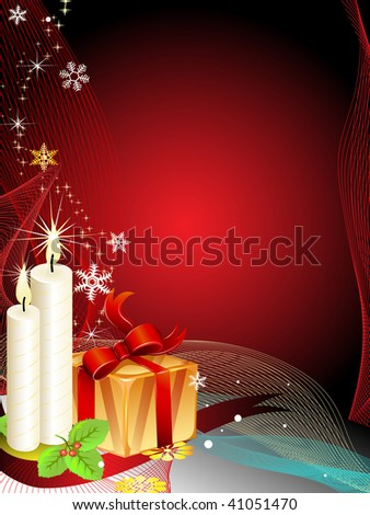 Christmas background(jpeg)in the gallery also available vector version of this image - stock photo